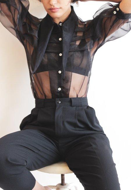 hannah kristina metz bathsheba blouse - black