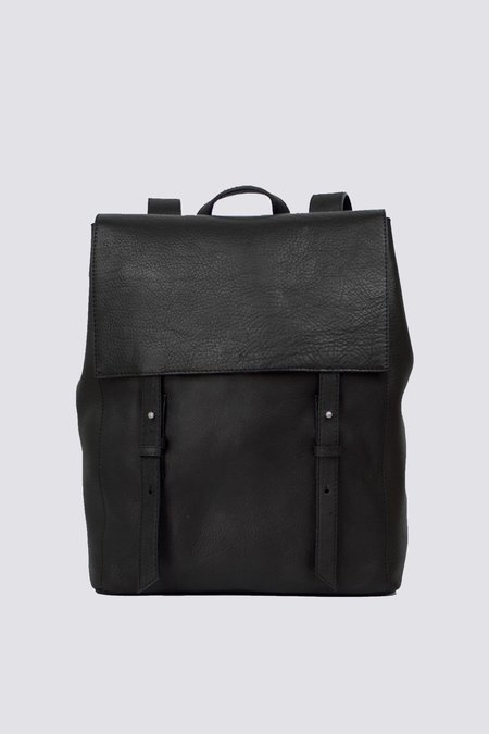 Le Bas Leather Backpack S - Black