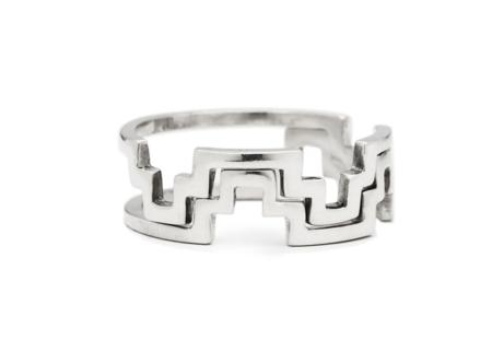 Casual Seance Stacking Chakana Ring - Sterling Silver