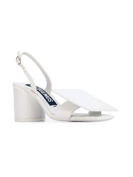 Jacquemus Les Rond Carre Sandals - White Leather