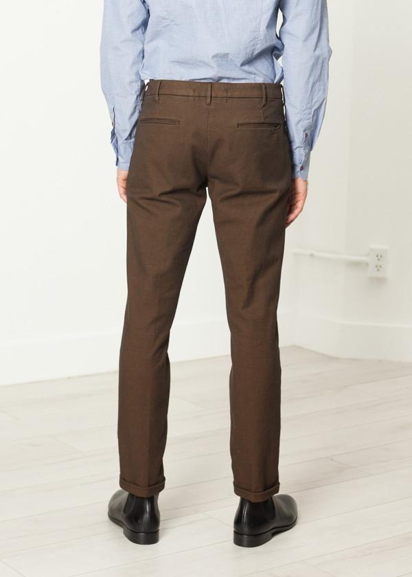 Men's Pence Diamond Weave Trouser in Hazel