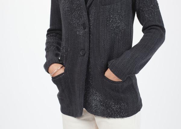Avant Toi Distressed Knit Jacket