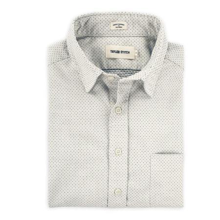 Taylor Stitch California Shirt - Navy Jacquard Dot