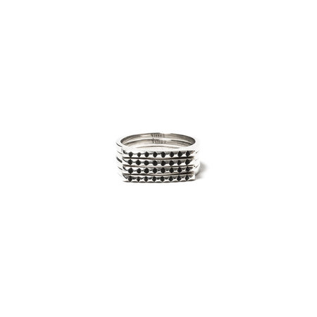 Maple Stackable Ring - Silver 925