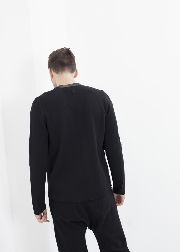 Men's Hannes Roether Ganter Cardigan in Black