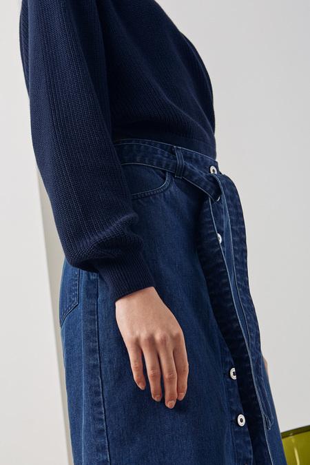 Kowtow Button Up Skirt in Classic Denim