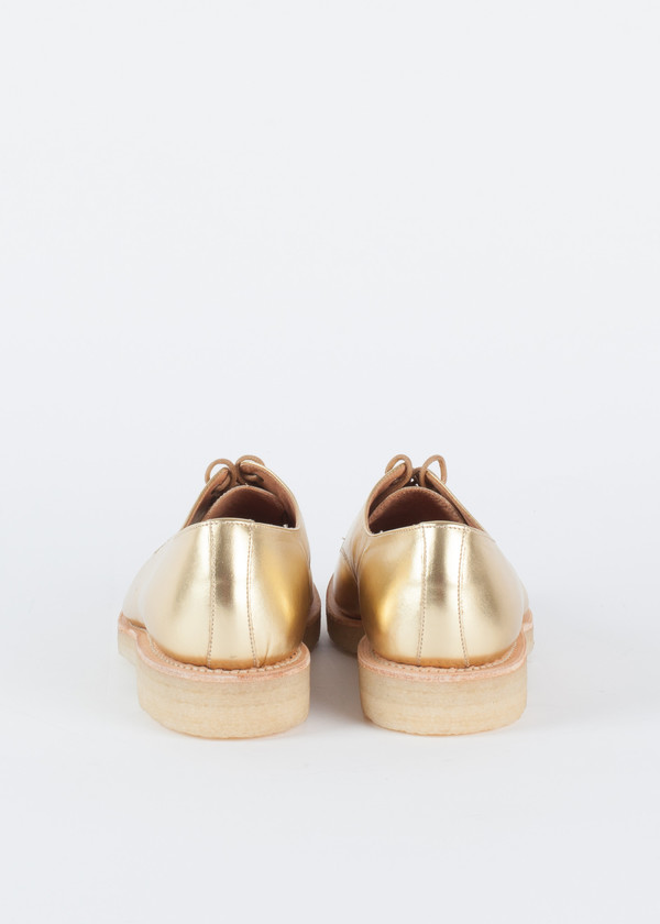 You Must Create Gold Crepe Sole Lace Up