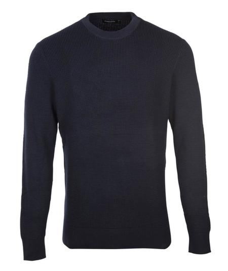 J Lindeberg Romulus Semi Structure Knit - Navy