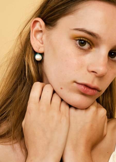 Zelda Murray Pearl Earrings - Turquoise