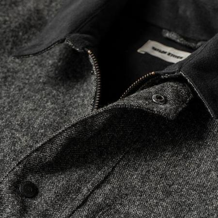 Taylor Stitch The Rover Jacket - Charcoal Birdseye Waxed Wool