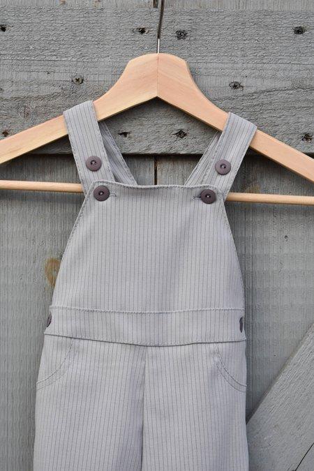 KIDS CONRADO Lily Overalls Pinstripe - Grey Pinstripe
