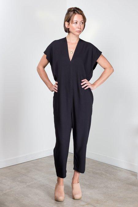 39b2adab7b ... Miranda Bennett Rayon Everyday jumpsuit - BLACK