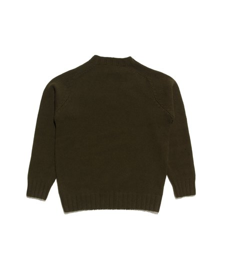 Freemans Sporting Club Ribbed Shetland Sweater - Pine Shadow