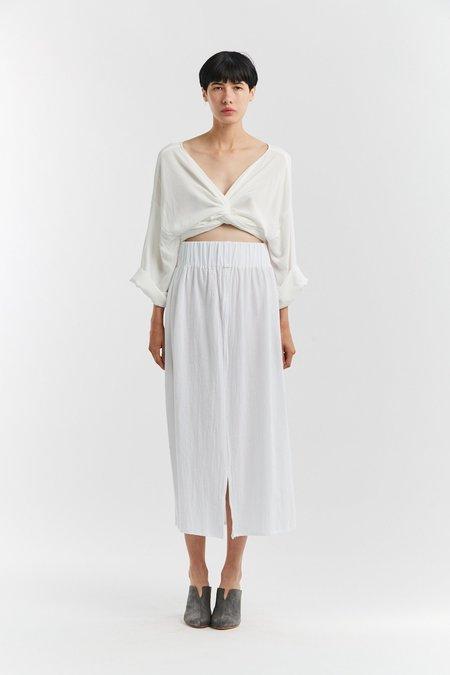 43d2efe1da Miranda Bennett Textured Cotton Paper Bag Skirt - White ...