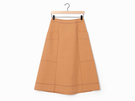 Cedric Charlier A-Line Skirt - Camel