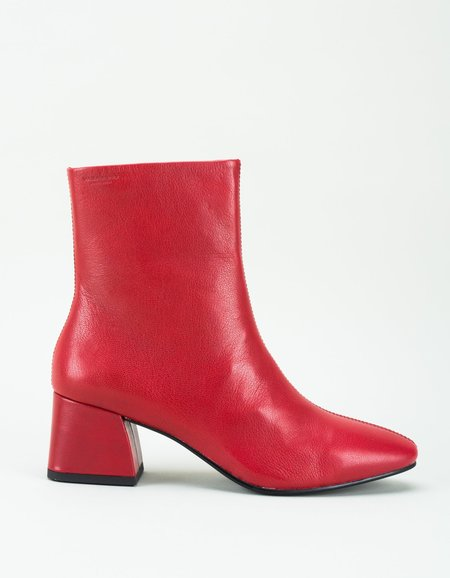 Vagabond Alice Leather Boot - Deep Red