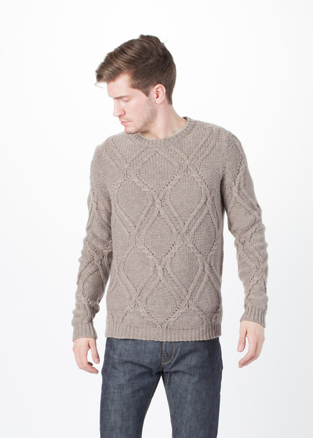 Men's Avant Toi Pattern Knit Pullover