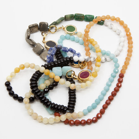 A. Carnevale Beaded Necklace - Black/Yellow