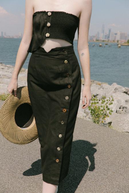 Ajaie Alaie Transitional Skirt in Ink