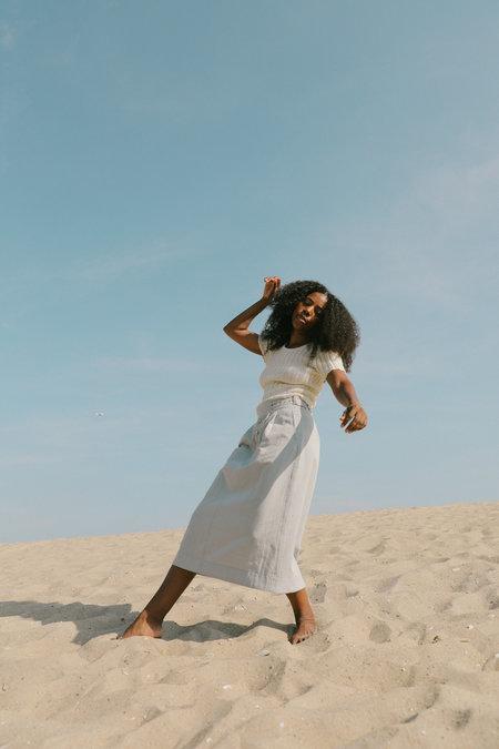 Kordal Ellis Skirt in Cream/Black Stripe