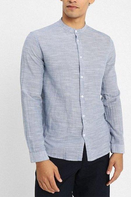 Suit Reed Mandarin Shirt - Light Indigo