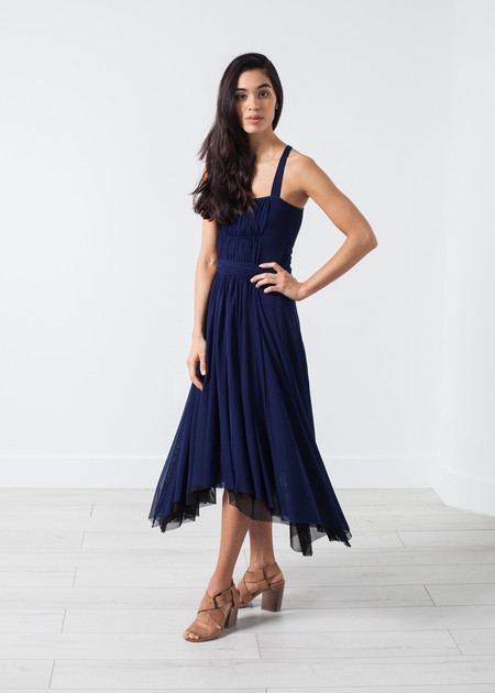 Amelia Toro Ruched Party Dress