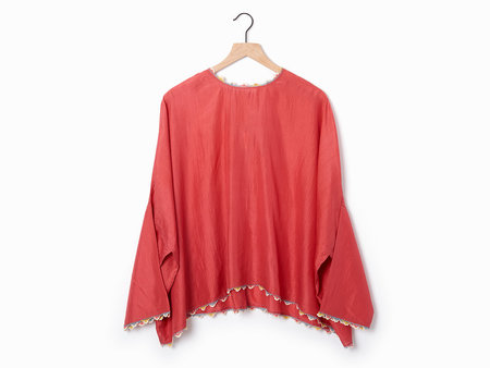Pero Silk Blouse - Red