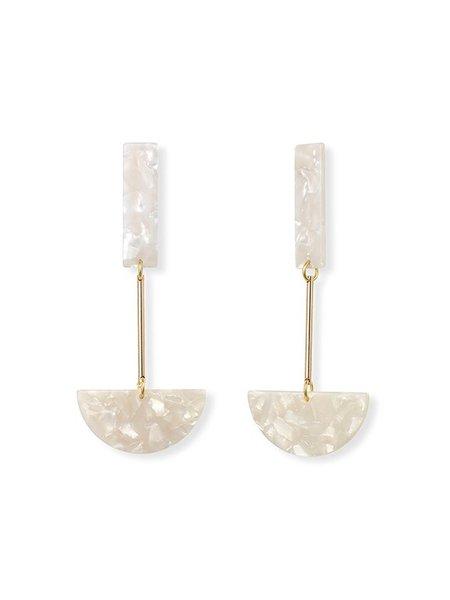 iuo Anchor Earrings - Ivory