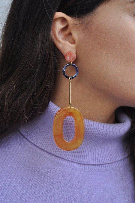 iuo Amber Oblong Earrings