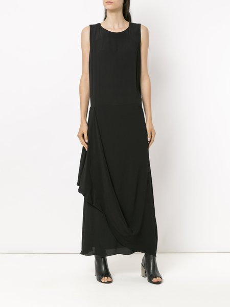 Uma Raquel Davidowicz Refil Draped Long Dress - Black