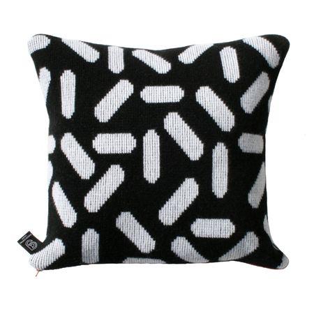 Giannina Capitani Tic tac cushion - Black/White