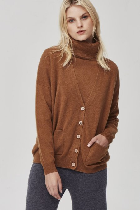 Laing Home The Cashmere Boyfriend Cardigan - Whiskey