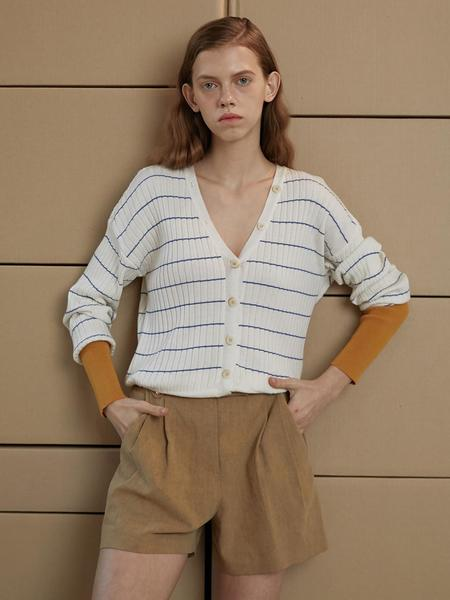 En Or Stripe Coloration Cardigan - Ivory