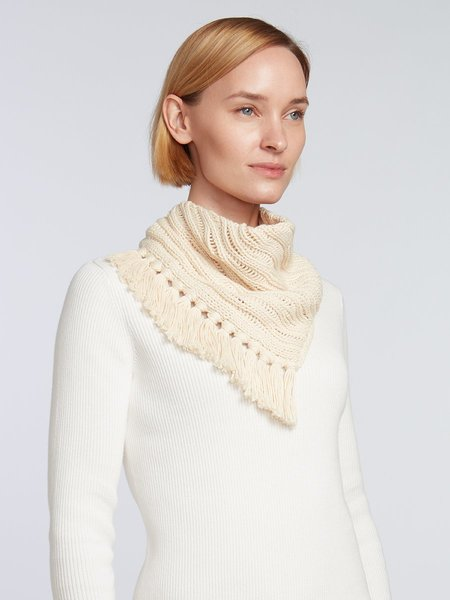 Elyse Maguire Little Knotty Cotton Scarf - Ivory