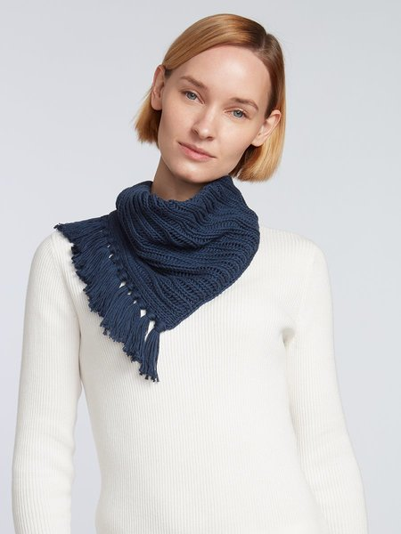 Elyse Maguire Little Knotty Cotton Scarf - Navy