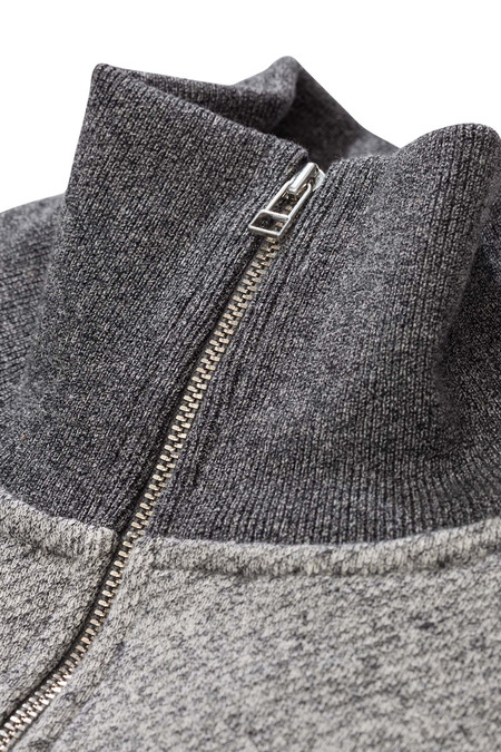 NORSE PROJECTS ALFRED FRENCH TERRY SWEATSHIRT - DARK GREY MELANGE
