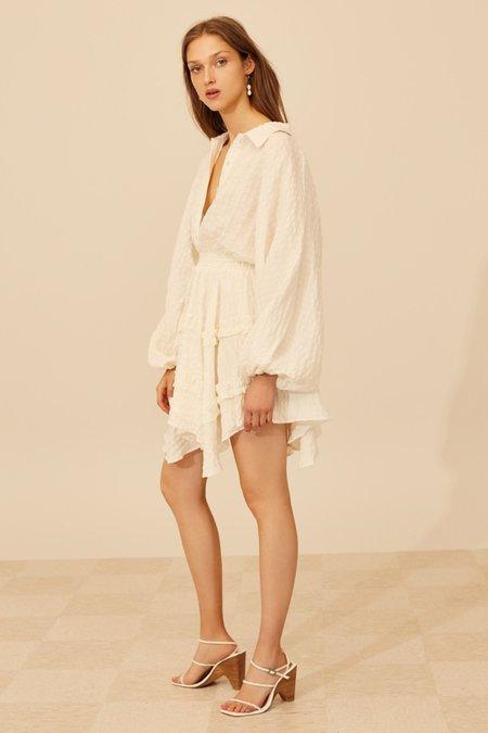 Cameo Distinct Mini Dress - Ivory