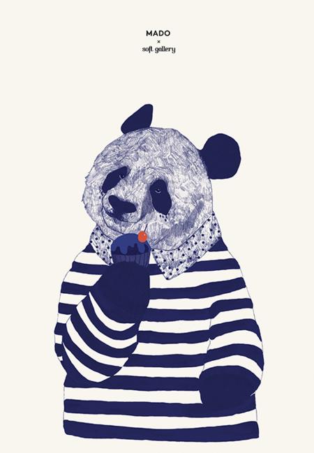 Mado Coney Panda Print