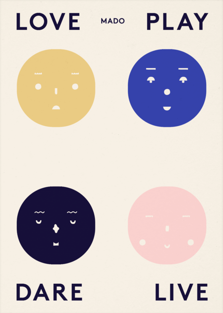 Mado Four Feelings Print