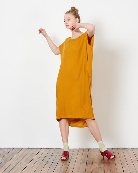 Kowtow Building Block Drape Dress - Amber