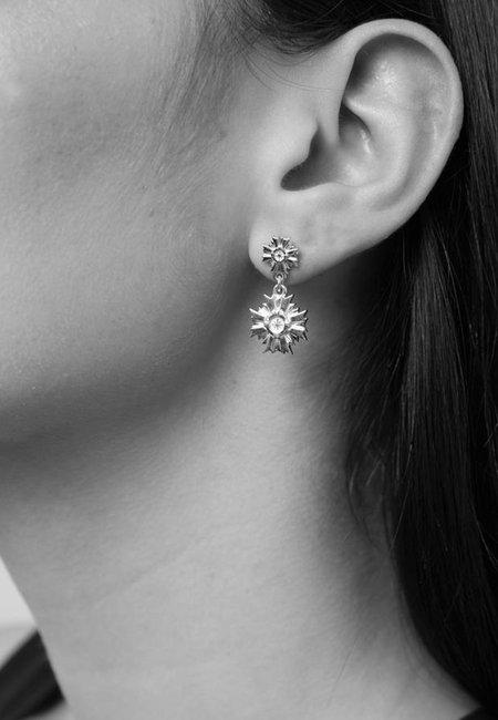 Meadowlark Small August Drop Earrings - Silver
