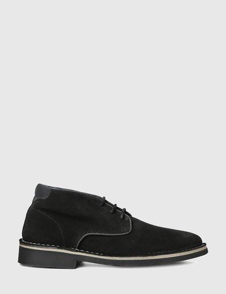 Hudson Margrey Suede Chukka Boots - Black