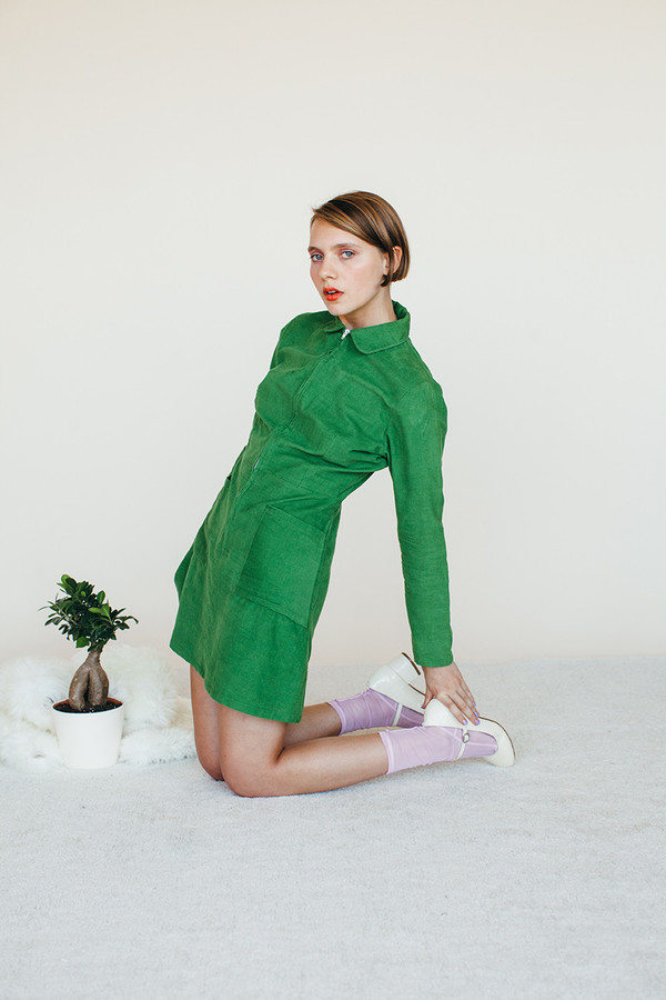 Leap Dress - Green