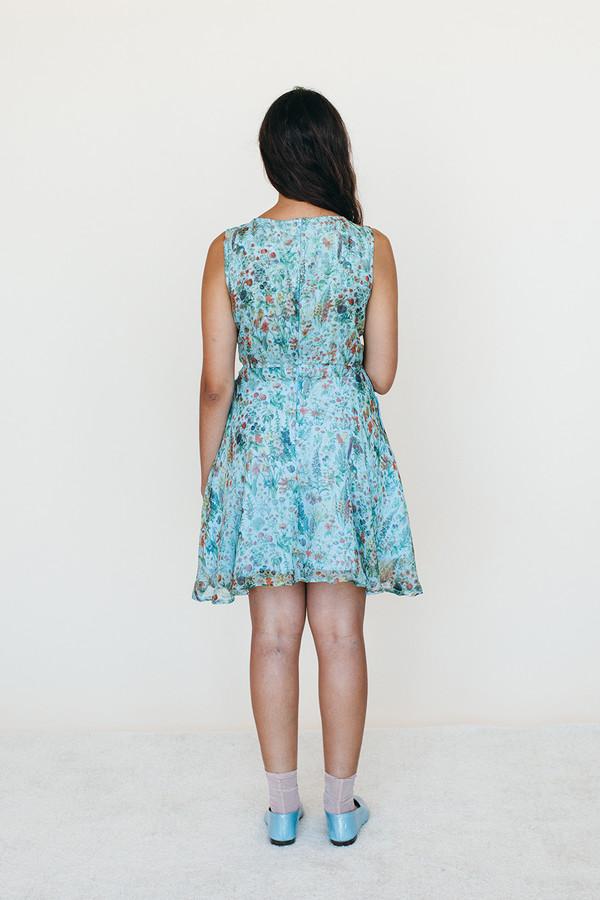 Strata Dress - Blue Floral Print