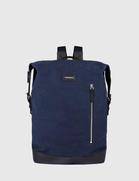 Sandqvist Adam Canvas Backpack - Blue