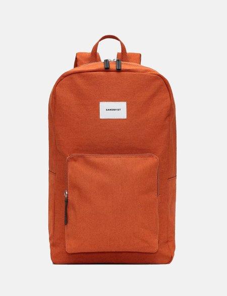 Sandqvist Kim Canvas Ground Backpack - Rust Red