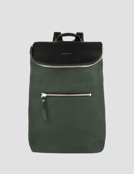 Sandqvist Mika Canvas Backpack - Beluga Green