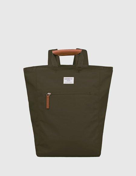 Sandqvist Tony Tote Bag in Canvas - Olive Green