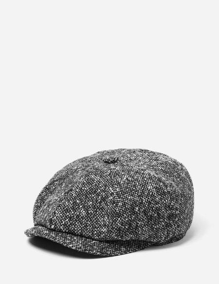 Stetson Hatteras Newsboy Cap Donegal - Black/Grey
