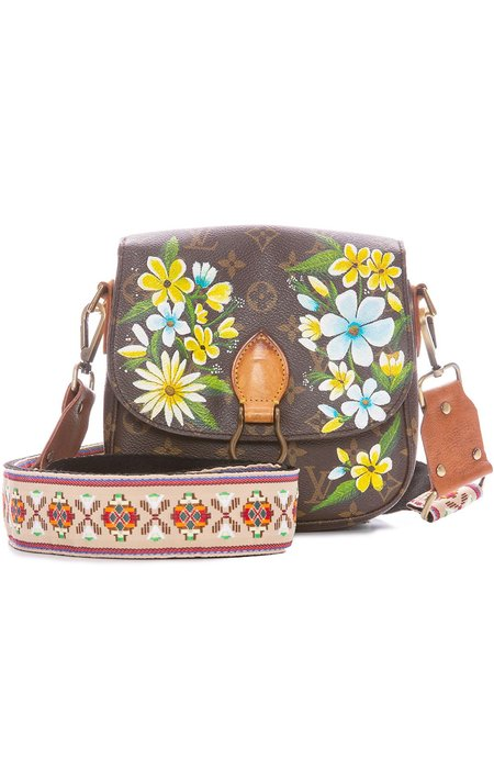 LV Vintage Saint Cloud MM Crossbody Bag - Yellow Garden